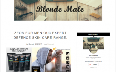 ZEOS FOR MEN QU3 EXPERT DEFENCE SKIN CARE RANGE – Review Blonde Male