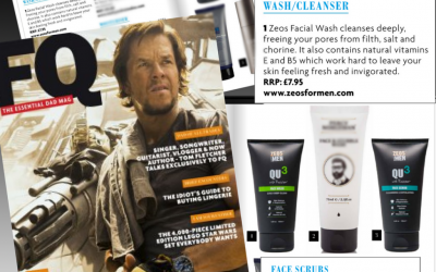 ZEOS QU3 Face Wash & Face Scrub Features in Father's Quarterly Magazine – Fresh Faced
