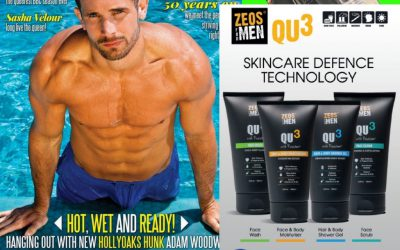 Gay Times features the ZEOS QU3 Skincare