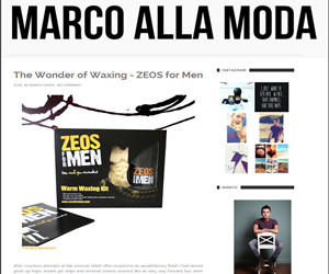 Product Review -The Wonder of Waxing – ZEOS for Men by Marco Alla Moda