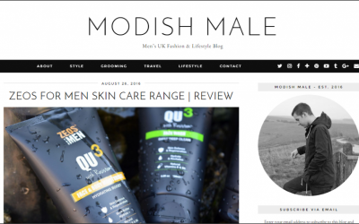 ZEOS For Men Skincare Review By Modish Male