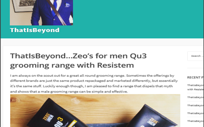 Product Review -ThatIsBeyond?Zeos for men Qu3 grooming range with Resistem