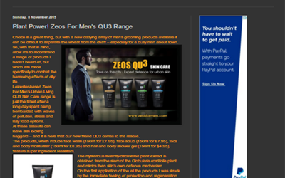 Plant Power! Zeos For Men's QU3 Range Product Review by Top Review 4 U