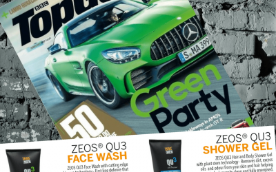 ZEOS QU3 Features in BBC Top Gear Magazine