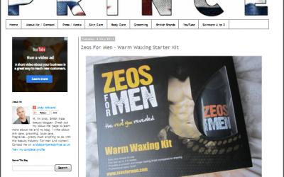 Zeos For Men – Warm Waxing Starter Kit – Pampered Prince Product Review