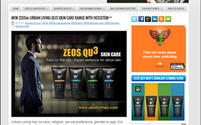 ZEOS For Men Urban Skin Care Product Review By The Male grooming Review