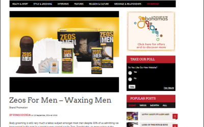 Zeos For Men – Waxing Men Product Review Entouraaj
