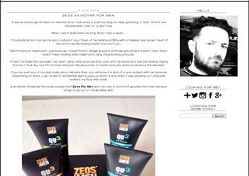 ZEOS SKINCARE FOR MEN ? A Blokes Eye View (Product Review)