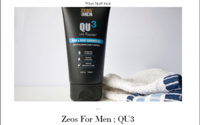 Zeos For Men :QU3 Urban Skincare Review by What Maff said…