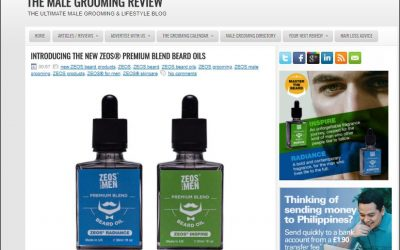 THE MALE GROOMING REVIEW – Features The New ZEOS Premium Beard Oils
