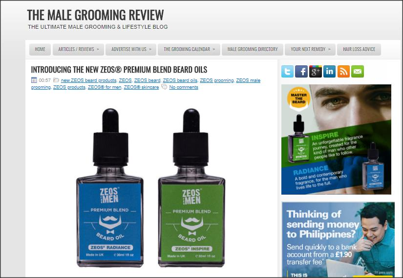 THE MALE GROOMING REVIEW - Features The New ZEOS Premium