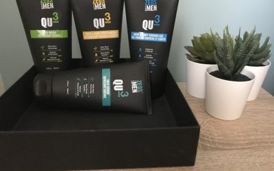 Gay Boy Bible Review Gives The ZEOS QU3 Skincare Collection A score of 39 out 40